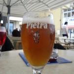 Bonne Bière Corse sur le port de Calvi avant de partir